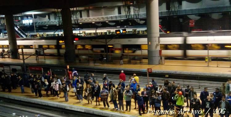 paros metro y tren