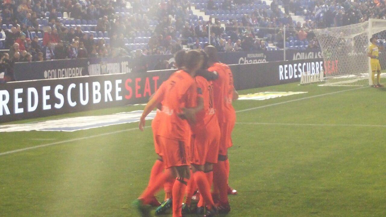 Munir adelantó al Valencia ante el Leganés en Butarque.