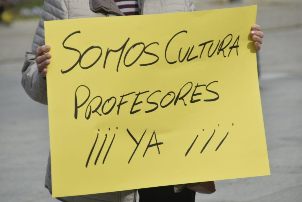 Manifestación Escuela de Musica Conservatorio Leganes
