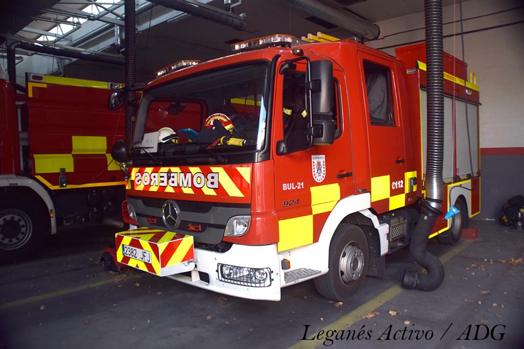 camiones de los bomberos de leganes