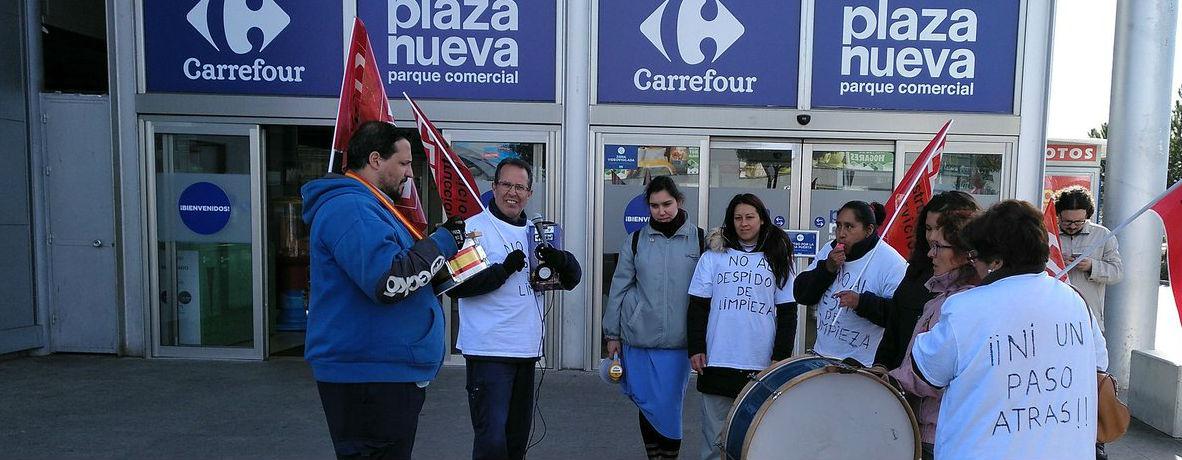 Huelga trabajadoras Carrefour Servimil