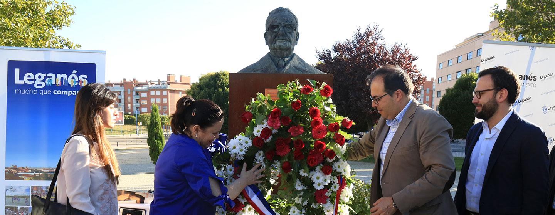 Resultado de imagen de el acto homenaje a Salvador Allende leganes