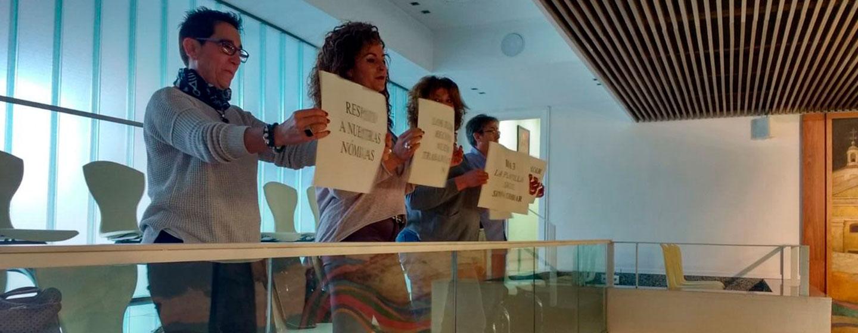 protestas trabajadores nomina