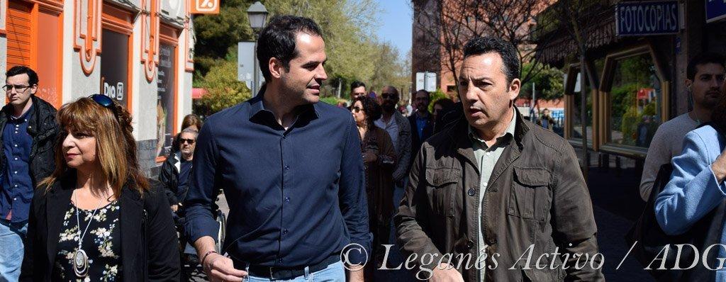 Ignacio Aguado visita Leganes Una tapa con aguado