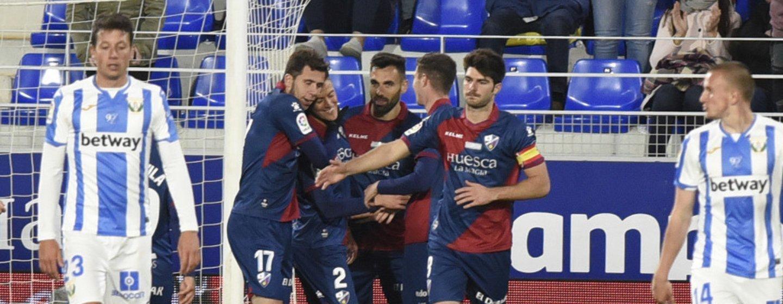 Huesca ceelbra el gol