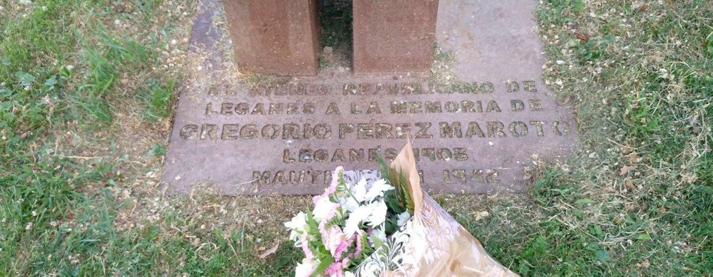 monolito homenaje Gregorio Pérez Maroto