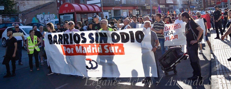 barrios sin odio manifestacion