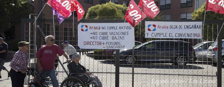 protesta residencia aralia leganes
