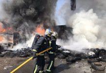bomberos extinguen incendio prado overa
