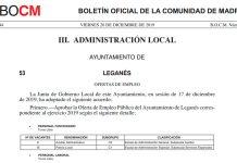 BOCM oferta empleo publico