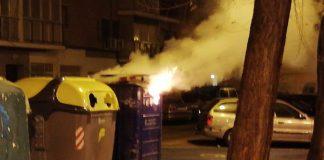 incendio contenedor papel
