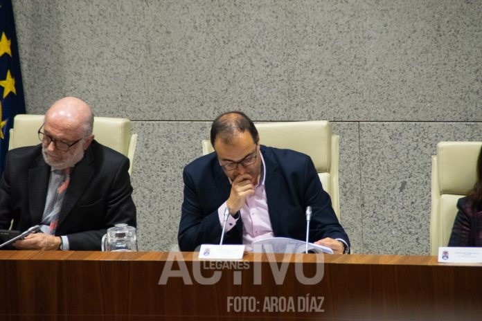 santiago llorente alcalde pleno leganes